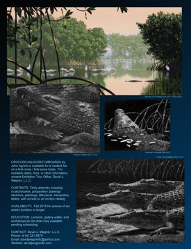 CROCODILIAN SCRATCHBOARDS by John Agnew