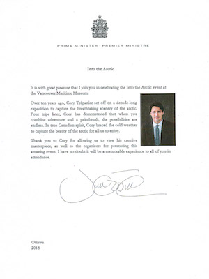 Prime-Minister-Trudeau-Into-The-Arctic-Letter