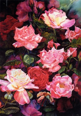 Susan K. Black painting, The Color of Roses
